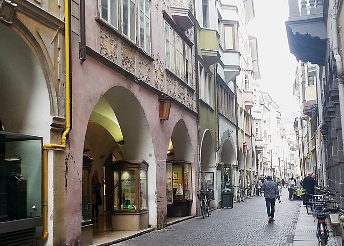Lauben in Bozen, Italien