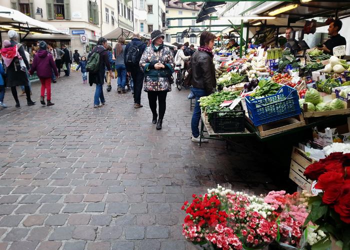 Obstmarkt in Bozen, Italien