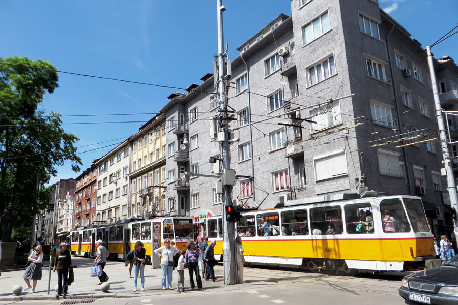 Straßenbahn in Sofia, Bulgarien