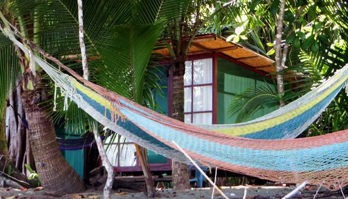 Strandhütte im Ojo del Mari in Osa