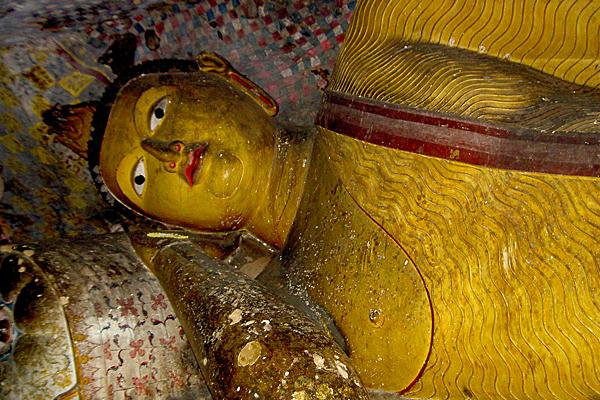 Liegender Buddha von Dambulla, Sri Lanka