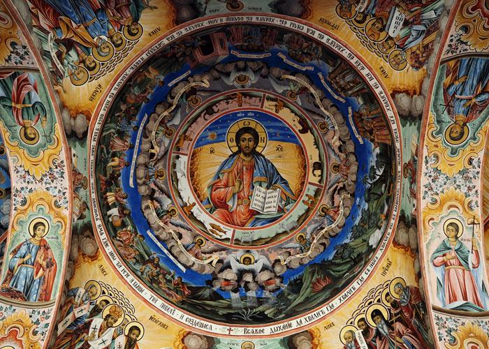 Sehenswuerdigkeiten in Bulgarien_Deckenmalerie Rila Kloster