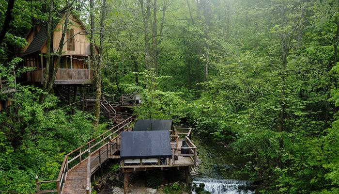 Glaming in Slowenien im Garden Village Bled