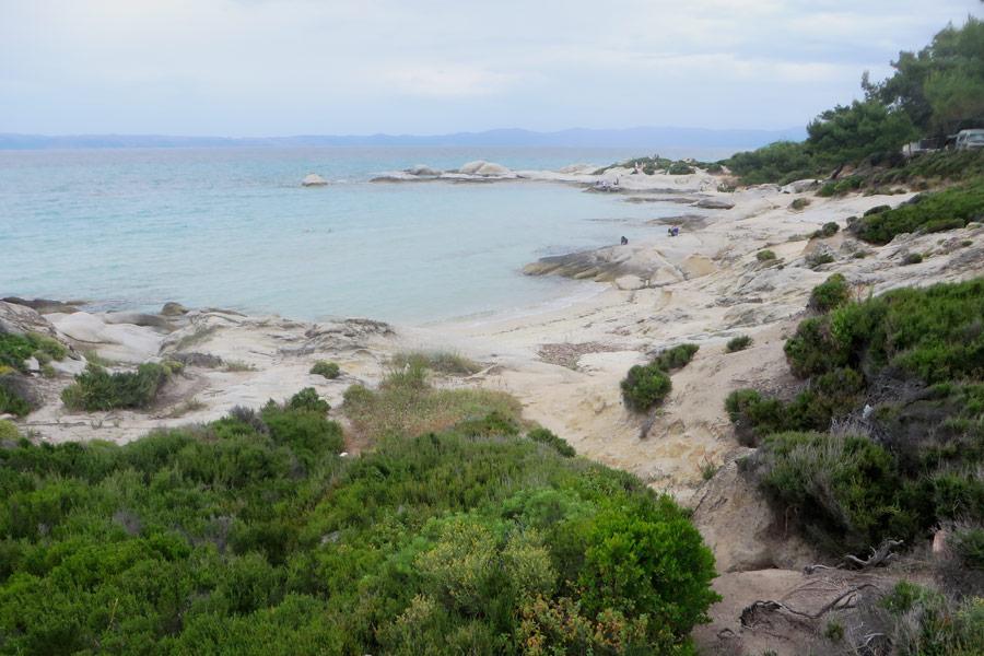 Strand in der Bucht von Kavourotripes