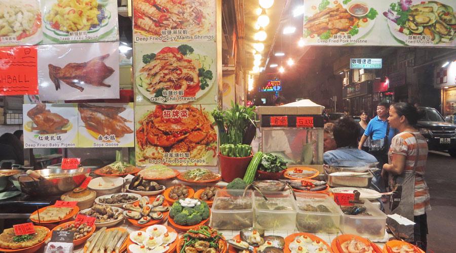 Straßenrestaurant in Hongkong