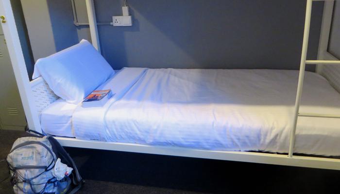 Saubers Hostel-Bett in Penang, Malaysia