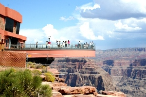 Der Skywalk im Hualapai Reservat am Grand Canyon.