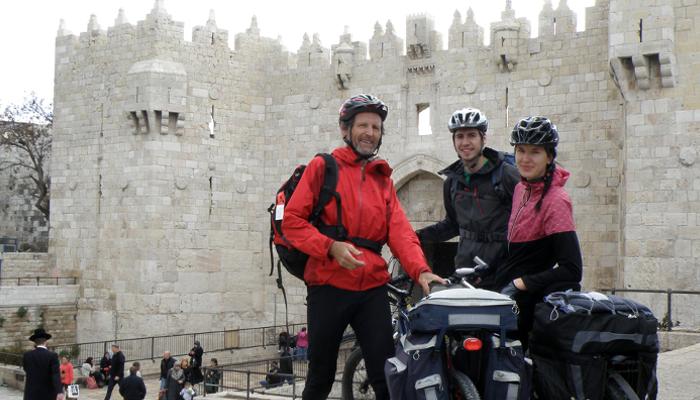 Miriam Zellinger reiste mit ihrem Vater und ihrem Bruder mit dem Rad durch Israel.