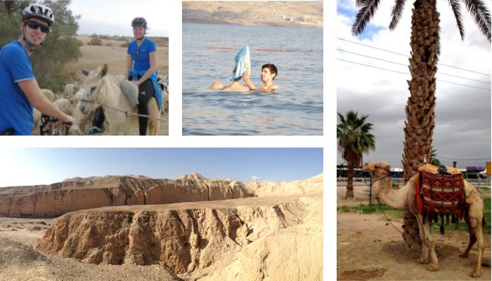 Baden im Toten Meer, per Kamel und Esel durch die Wüste - nicht nur auf dem Fahrradsattel haben sie Israel bereist.
