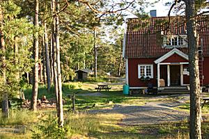 Auf der Insel Stora Kalholmen gibt es nur eine einzige Unterkunft - eine Jugendherberge.