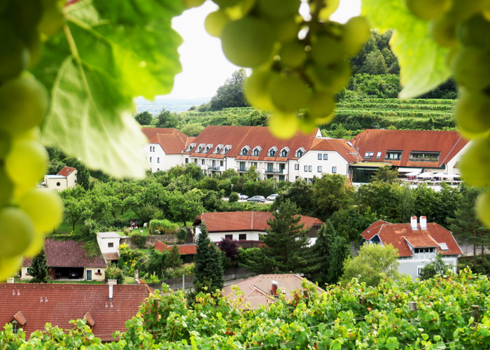 Blick auf das Hotel Steigenberger in Krems