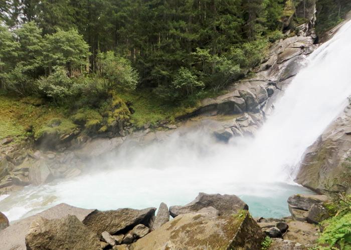 Das Wasser der Krimmler Wasserfälle kommt aus dem Gletscher.
