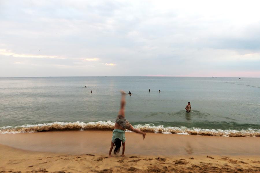 Langzeitreisen: Wieder Kind sein am Strand.