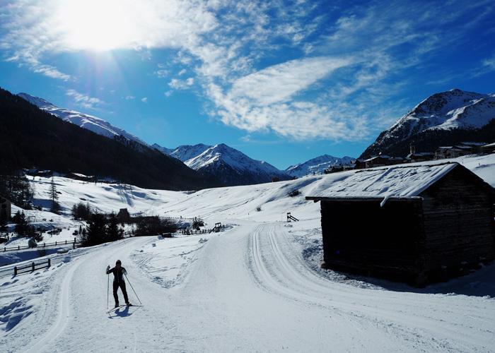 Livigno-Langlaufen