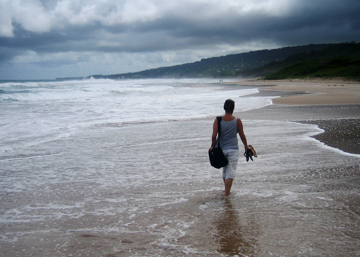 Strandspaziergang auf Barbados