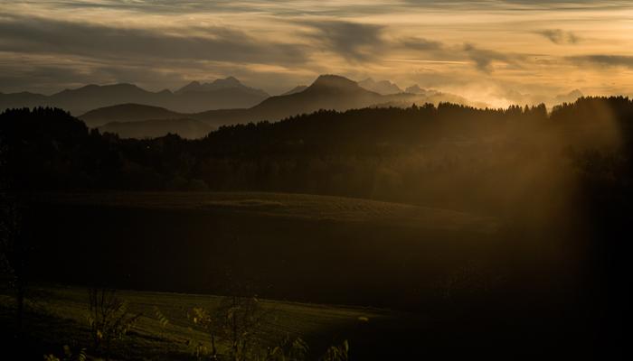 Sonnenuntergang in Mittelkaernten