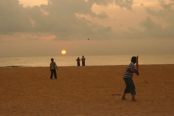 Abendstimmung am Strand von Negombo, Sri Lanka