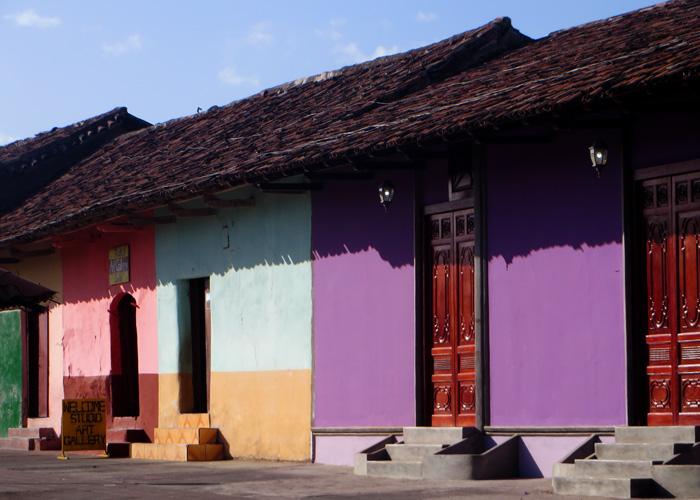 Bunte Häuser in der Stadt Granada in Nicaragua