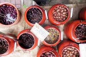 Oliven am Markt von Thessaloniki
