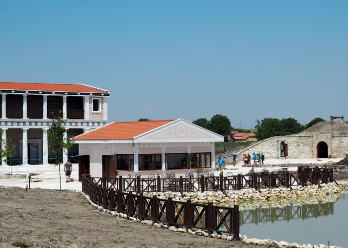 Bulgarien Geschichte_Historsicher Park_Thrakisches Schloss im Bau