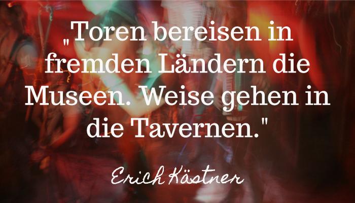 Langsam Reisen Reisespruch Erich Kästner