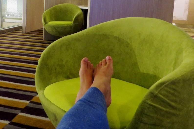 Relaxen am Flughafen Singapur