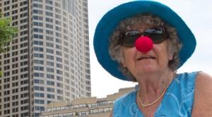 Dame mit Clownnase