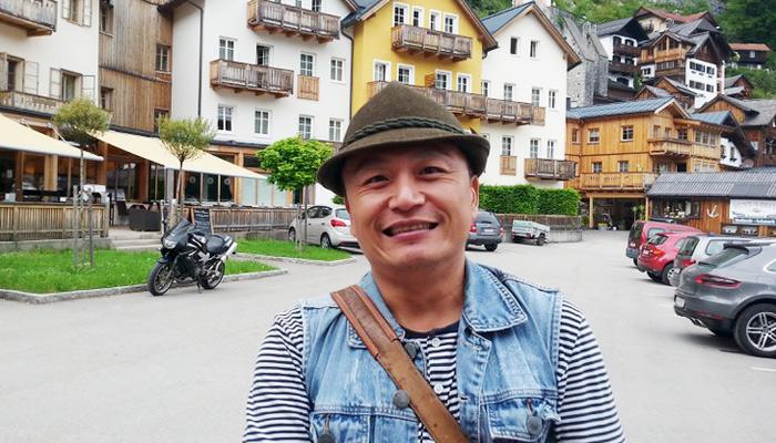 Taiwanesicher Besucher in Hallstatt