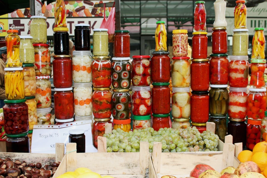 Markt in Belgrad