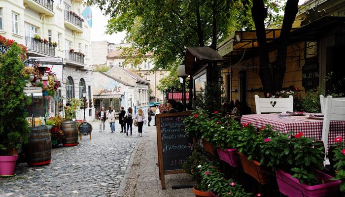 Serbien_Belgrad_ Künstlerviertel Skadarlija