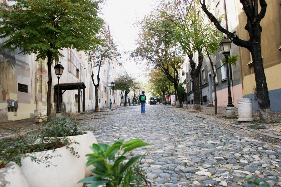 Boheme-Viertel Skdarska in Belgrad