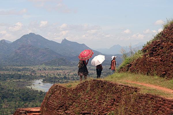 Ausblick von Sigirya, Sri Lanka