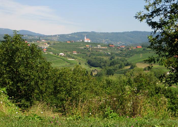 Slowenien Landschaft Bela Krajna