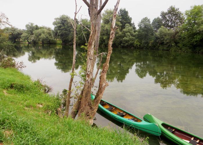 Fluss Kolpa Glamping Slowenien