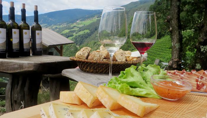 Wein vom Spitalerhof in Südtirol