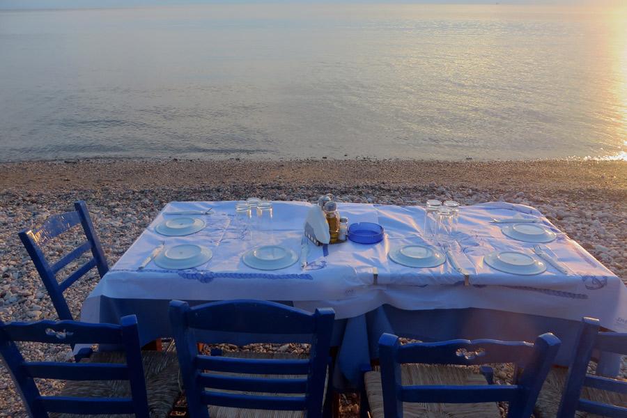 Sonnenuntergang auf der griechischen Insel Thassos