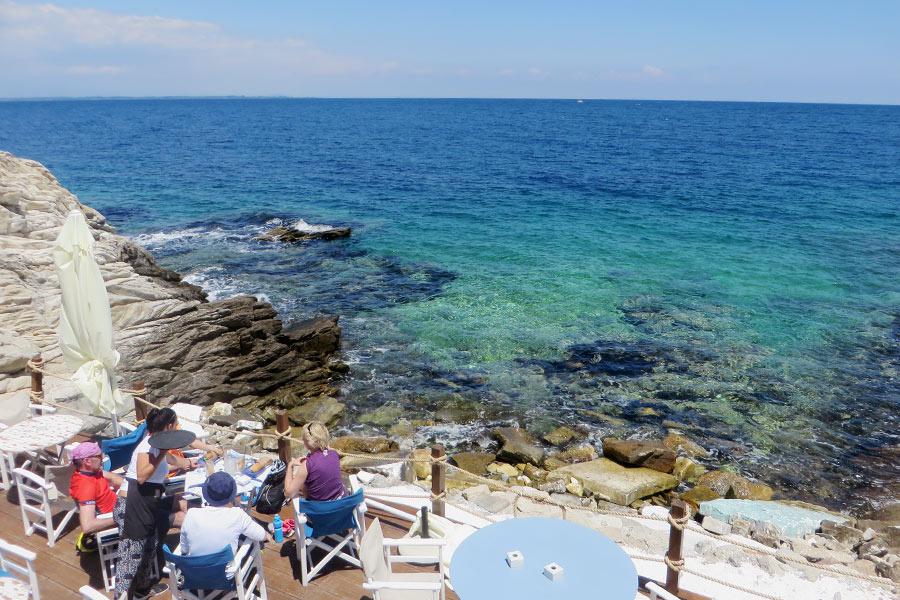 Bachbar auf Thassos, Insel in Griechenland