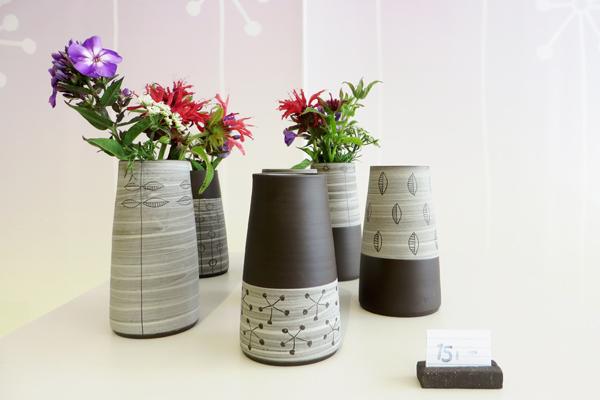 Vasen im Keramikatelier moccarot in Weimar