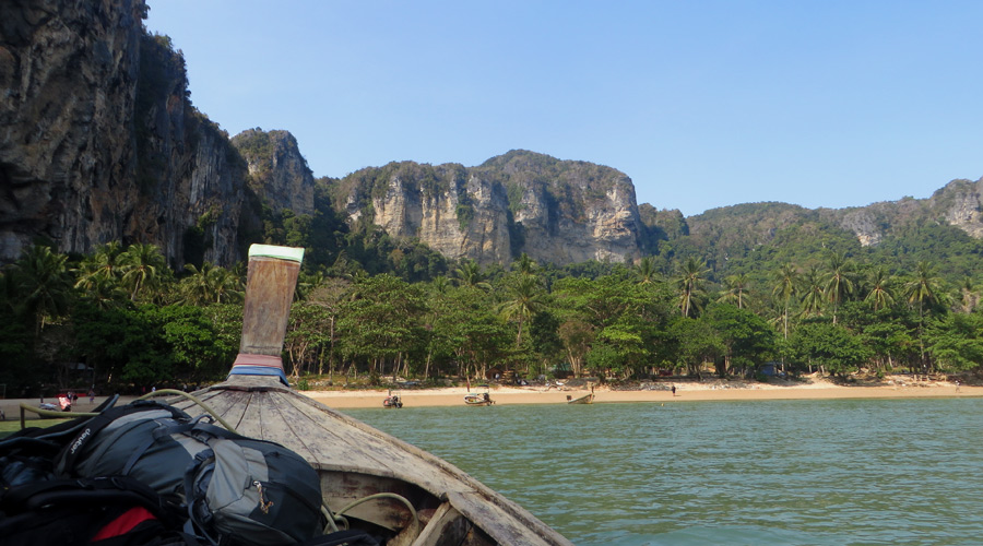 Tonsai Beach, Thailand, Anfahrt per Longtail Boat