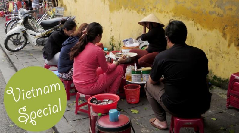 Straßenrestaurant in Vietnam