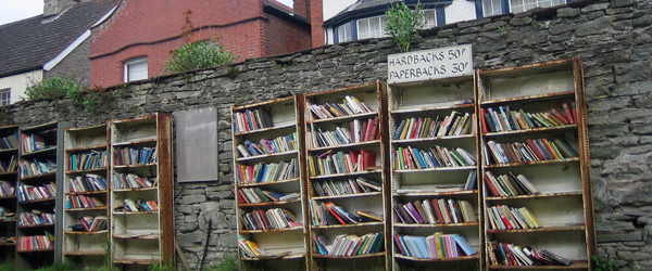 Bücherstadt Hay on Wye in Wales