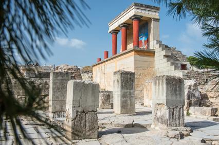 Minoan Palast von Knossos auf Kreta