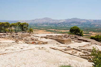 Blick auf Phaistos, Kreta, Griechenland