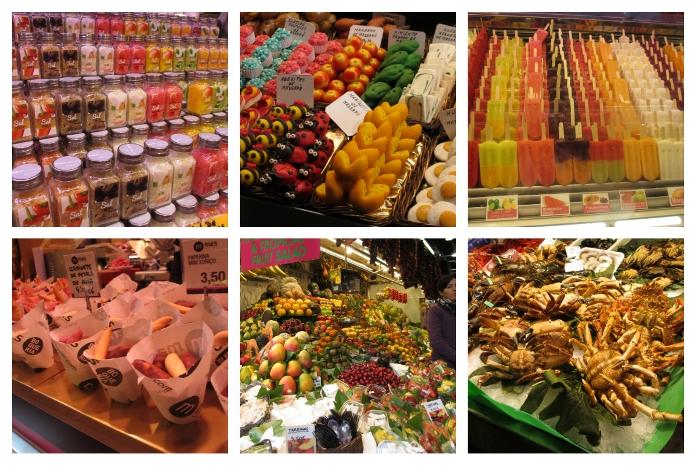 Im berühmten Markt La Boqueria wird getratscht, gekauft und gekocht und man kann sogar an Kochkursen teilnehmen.