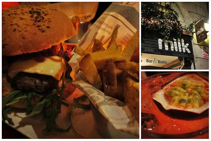Süße Cocktails und leckere Burger gibts bei Milk.