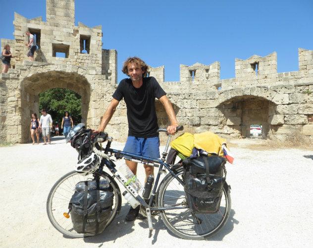 Fahrradtour durch Europa - Juri in Griechenland.