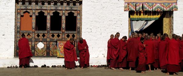 Mönche in Bhutan