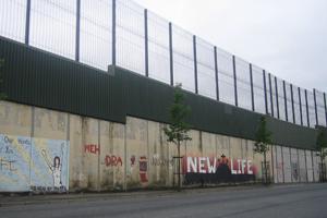 Friedensmauer in Belfast