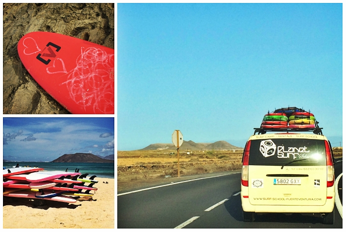 Surfen mit Planet Surfcamp in Corralejo, Fuerteventura