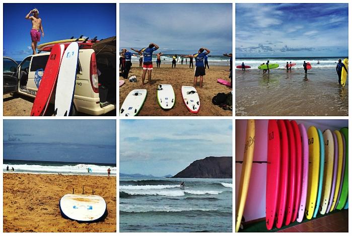 Von Montag bis Freitag gehen die Planet Surfcamp Schüler täglich surfen und besuchen einen der Surfspots im Norden von Fuerteventura.